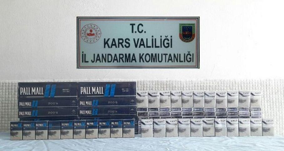Kars'ta sigara kaçakçıların kurnazlığını jandarma yutmadı