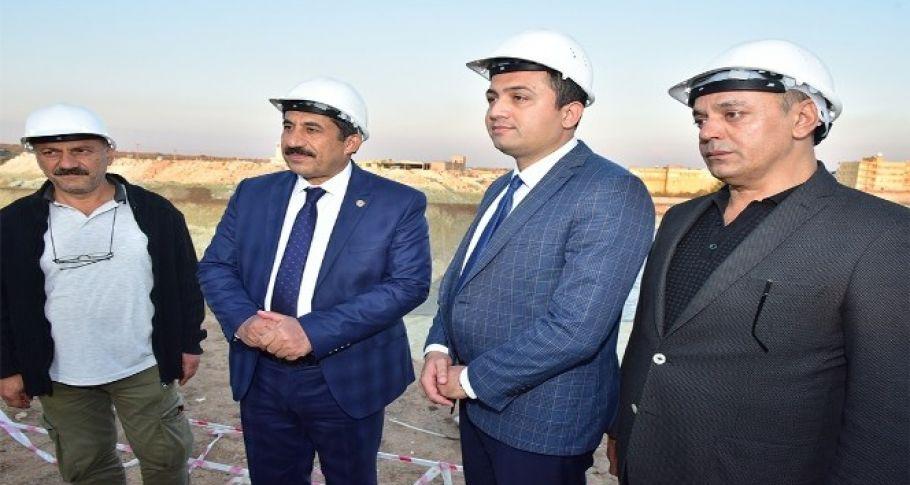 Kaymakam Keklik ve Başkan Atilla hastane inşaatını inceledi