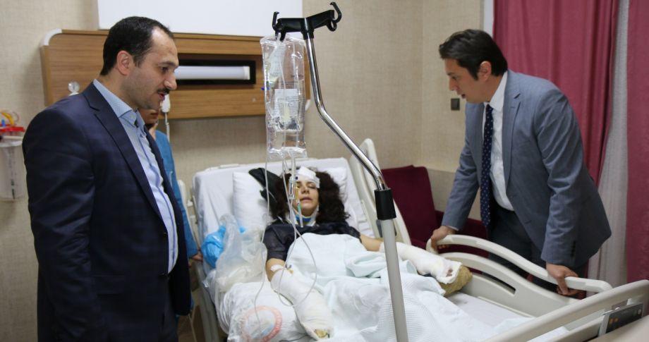 Kazada Yaralananlara Ziyaret
