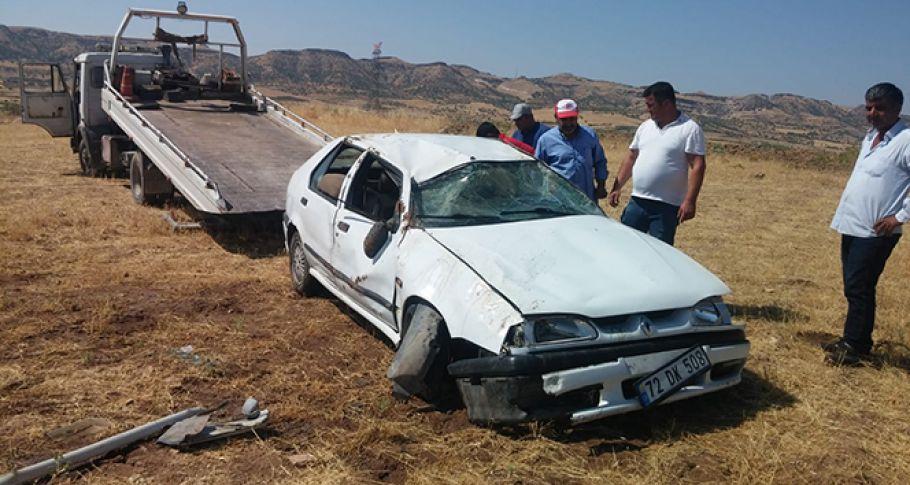 Kontrolden Çıkan Otomobil Takla Attı: 1 Ağır Yaralı