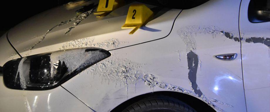 Konya'da otomobile asitli saldırı!