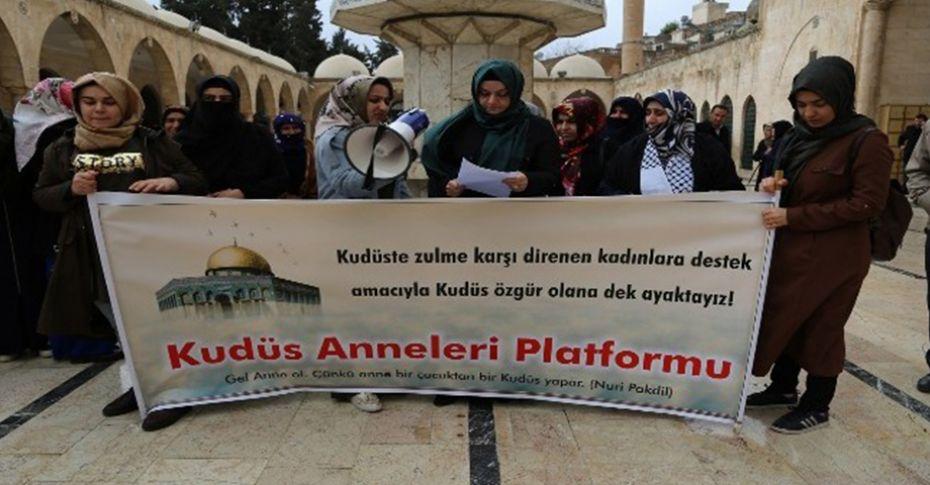 Kudüs Anneleri Platformu'ndan Kudüs zulmüne tepki!