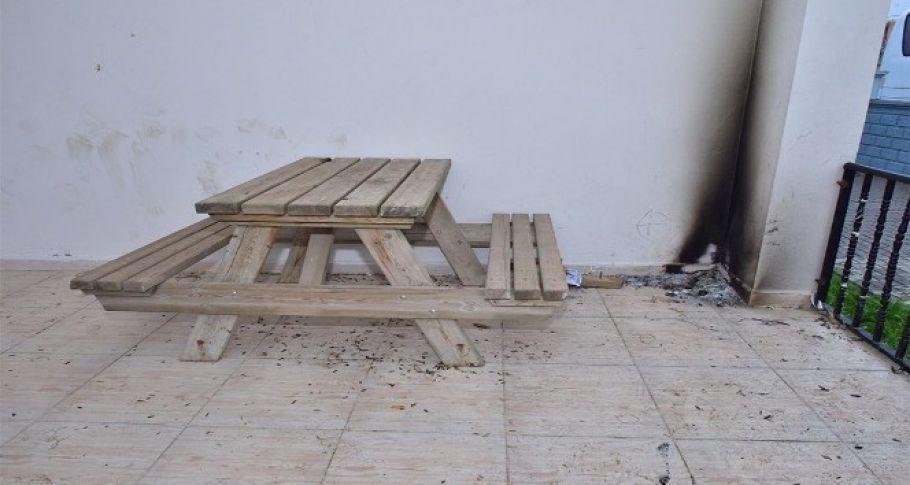 Kültür evindeki oturma grupları tahrip edildi