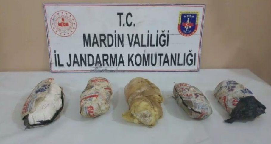 Mardin'de 7 kilo patlayıcı madde ele geçirildi