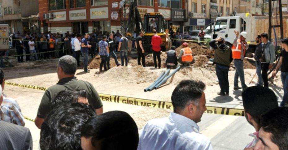Mardin'de kazı sırasında insan kemikleri ortaya çıktı