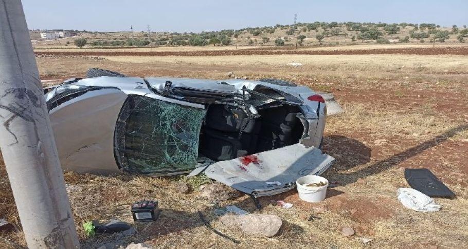 Mardin'de otomobil şarampole yuvarlandı, 1 kişi hayatını kaybetti