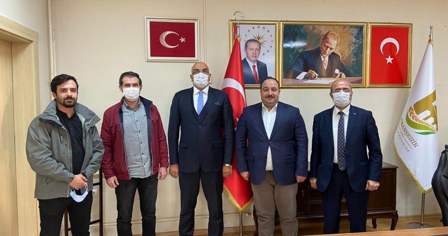 Mavi Medya Grup'tan, Başkan Ekinci'ye ziyaret