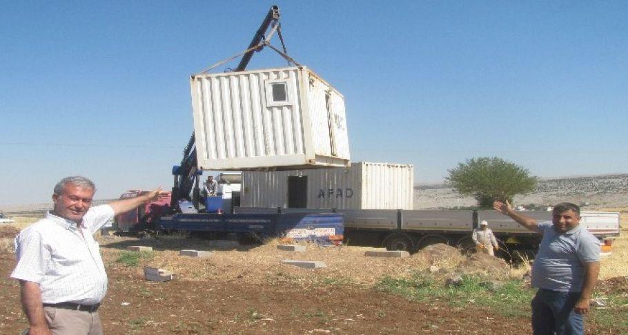 Mevsimlik tarım işçilerine seyyar konteyner