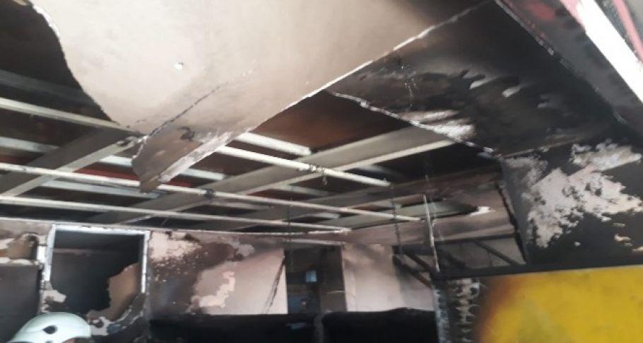 Midyat'ta kafe yangını
