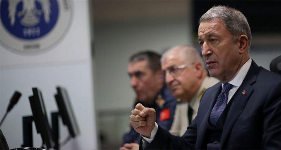 Milli Savunma Bakanı Hulusi Akar'dan flaş operasyon mesajı
