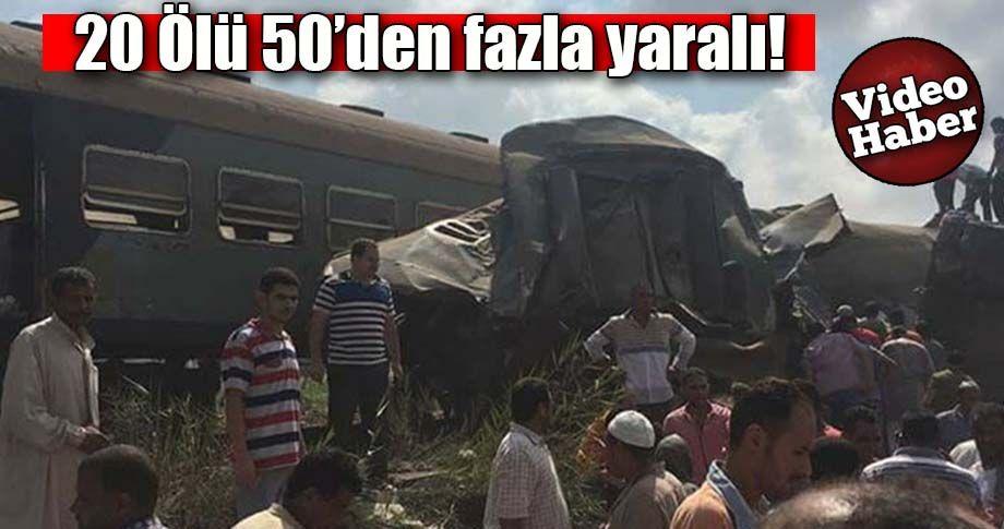 Mısır'da feci tren kazası!