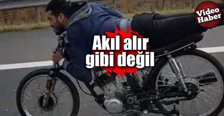 Motosiklet üzerinde ölümüne yolculuk!