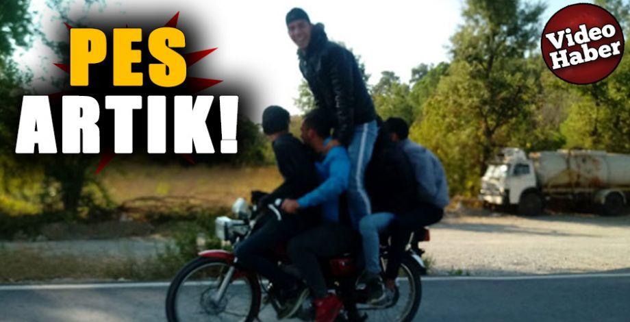 Motosikletli gençlerin ölümüne yolculuğu kamerada