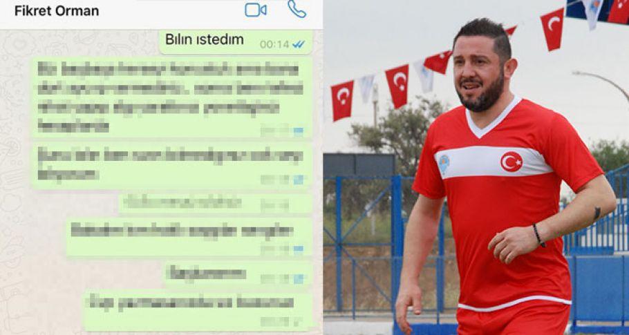Nihat Kahveci, Fikret Orman'a gönderdiği WhatsApp mesajını paylaştı