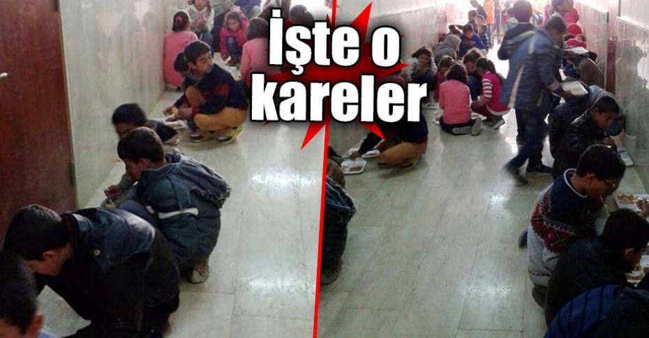 Öğrencilerin yerde yemek yediği iddiasına Milli Eğitim Müdürlüğü'nden açıklama