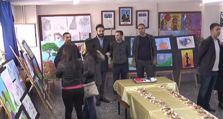 Öğrencilerin yıl sonu resim sergisi(videolu)