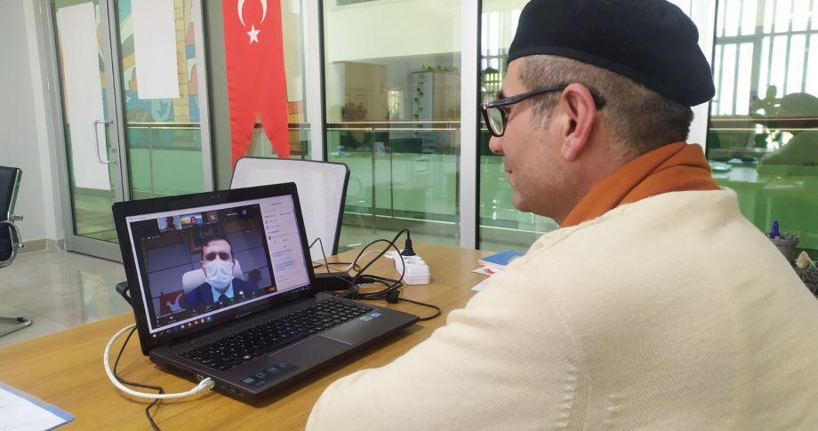 Öğretmenlerin online resim sergisi açıldı (videolu)