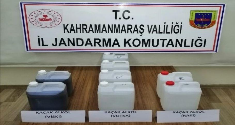 Pazarcık'ta kaçak içki operasyonu