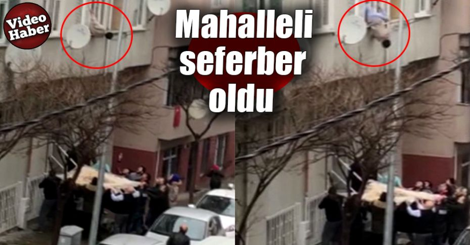 Pencereden sarkan yaşlı adam ölümden döndü!