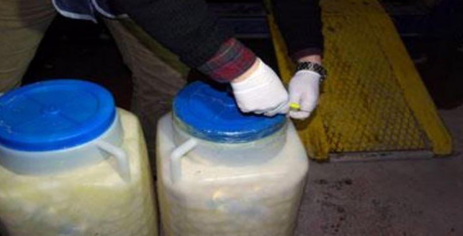 Peynir bidonu içinde uyuşturucu ticareti