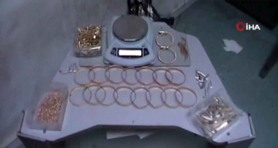 Piyasaya 1.5 milyon liralık sahte altın süren şebeke çökertildi