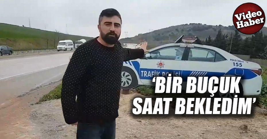 Polis maketini gerçek sanan vatandaş güldürdü