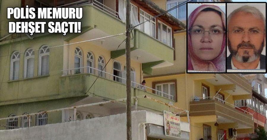 Polis memuru anne ve babasını öldürdü