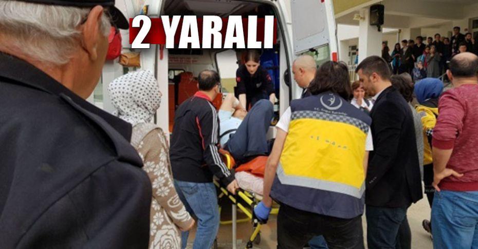 Polis memuru okulda dehşet saçtı!