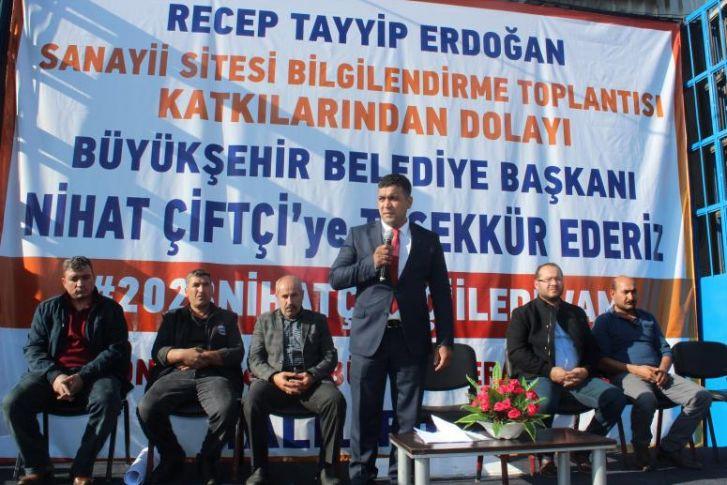 Recep Tayyip Erdoğan Sanayi Sitesi Bilgilendirme Toplantısı Yapıldı