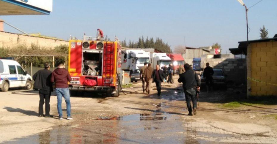 Reyhanlı'da LPG istasyonu yakınına roket düştü