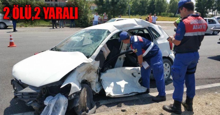 Samsun'da trafik kazası: 2 ölü, 2 yaralı!