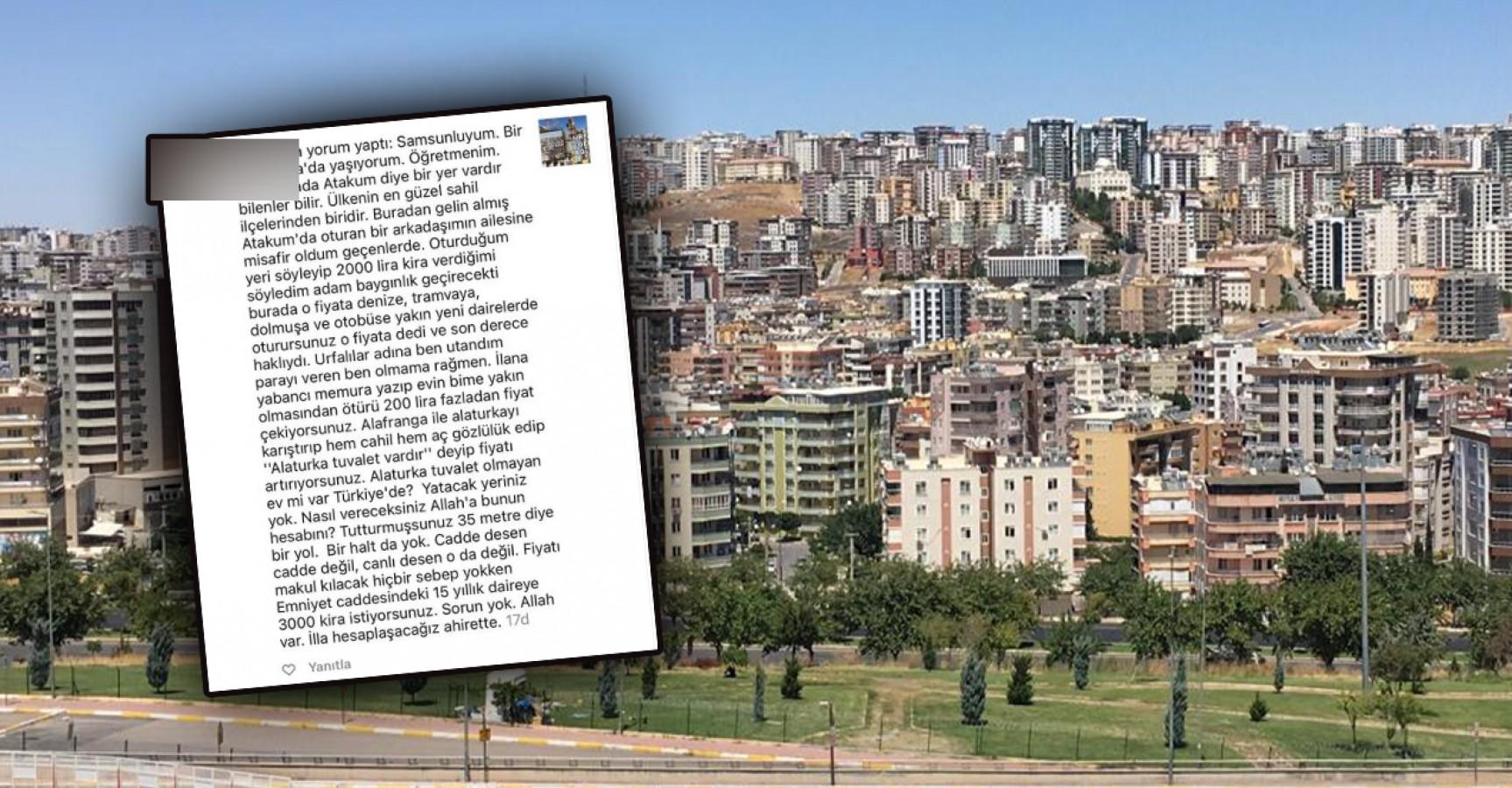 Samsunlu öğretmen Urfa'daki kira fiyatlarına isyan etti!