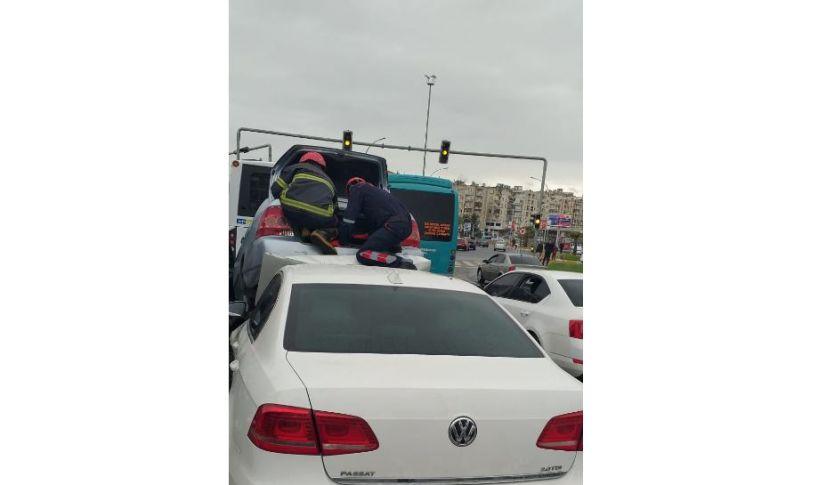 Şanlıurfa Abide kavşağında trafik kazası !