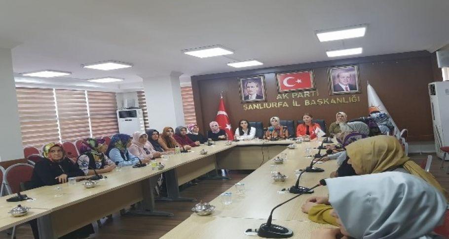 Şanlıurfa Ak Parti Kadın Kolları Srebrenitsa Soykırımını kınadı