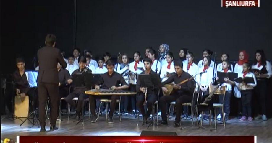 Öğrencilerin yıl sonu etkinliğine yoğun ilgi (videolu)