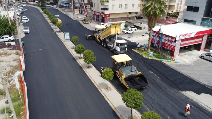 Şanlıurfa'da asfalt çalışmalarıhızlandı