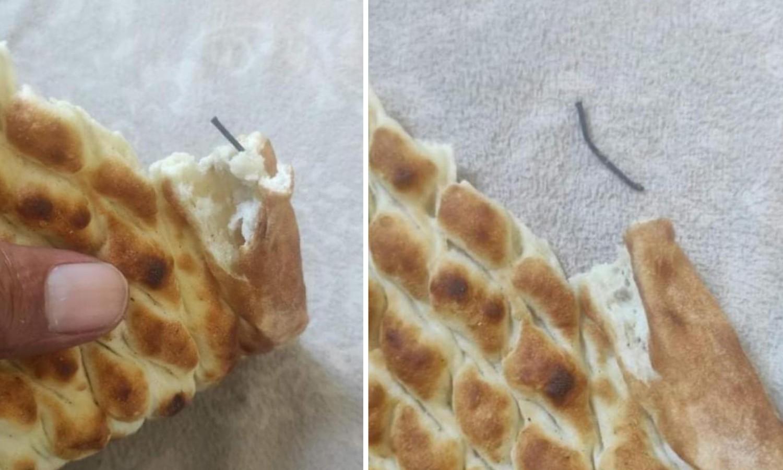 Şanlıurfa'da ekmekten çivi çıktı