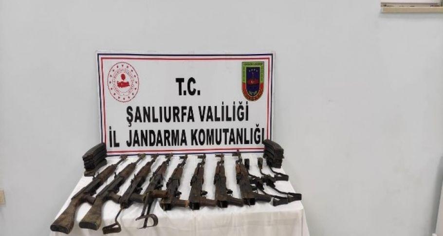 Şanlıurfa' da kaçak silah ele geçirildi