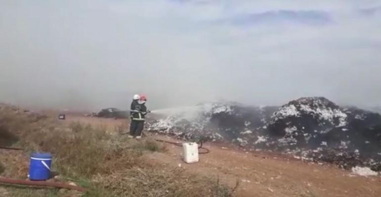 Şanlıurfa'da pamuk tarlasında yangın çıktı