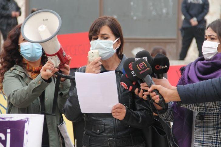 Şanlıurfa'da kadına yönelik şiddet protesto edildi (videolu)