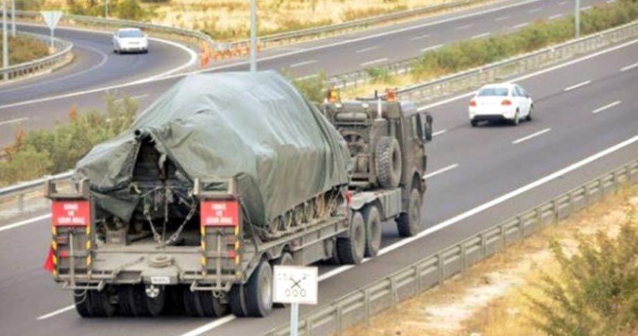 Şanlıurfa sınırına askeri araç sevkiyatı