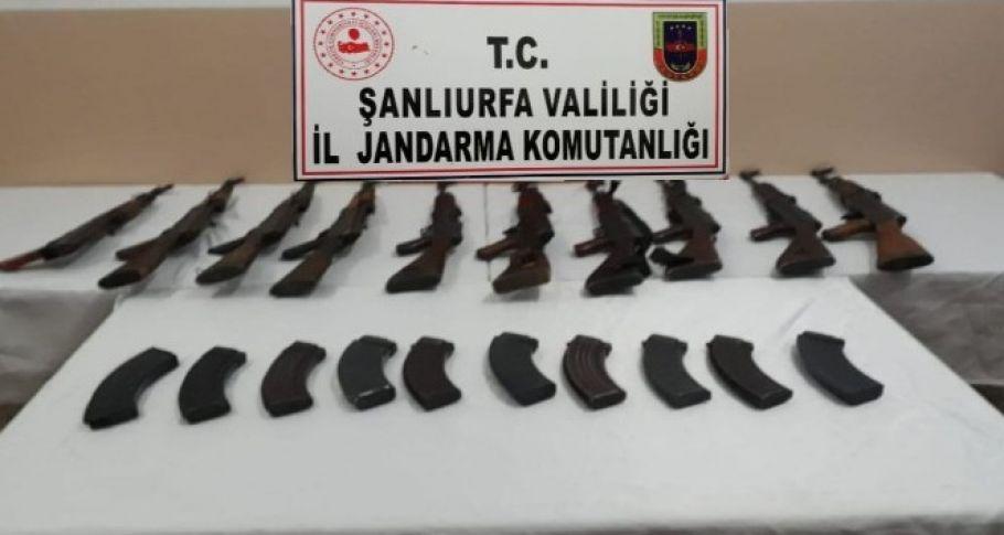 Şanlıurfa'da 10 adet uzun namlulu silah ele geçirildi