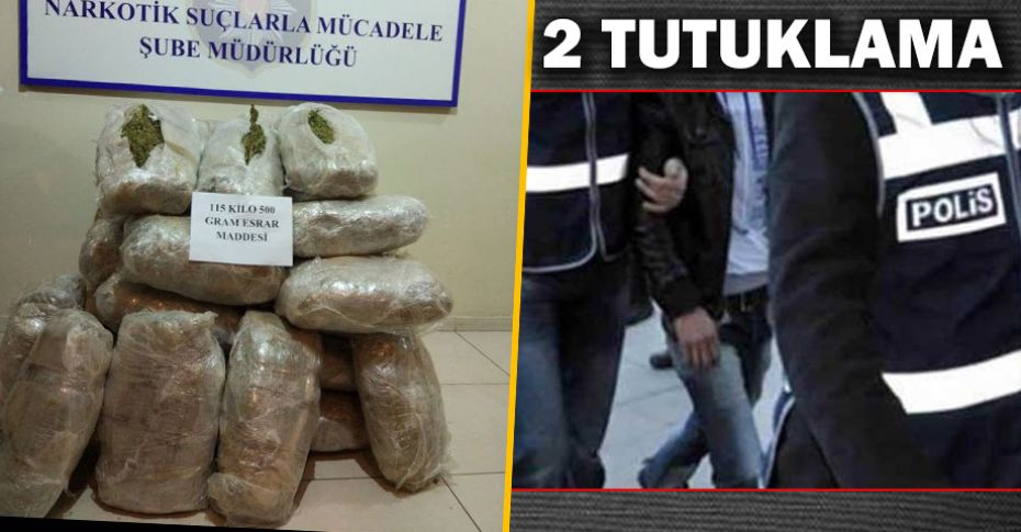 Şanlıurfa'da 115 kilo uyuşturucu madde ele geçirildi!