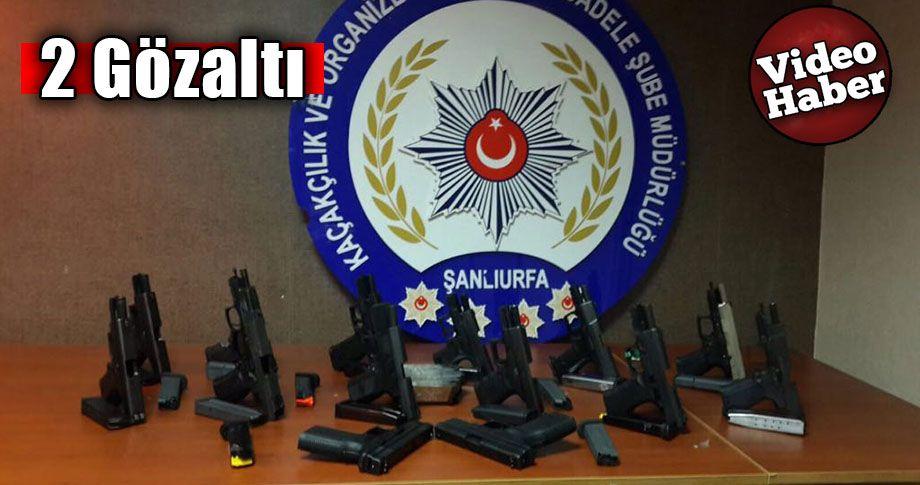 Şanlıurfa'da 14 ruhsatsız tabanca ele geçirildi