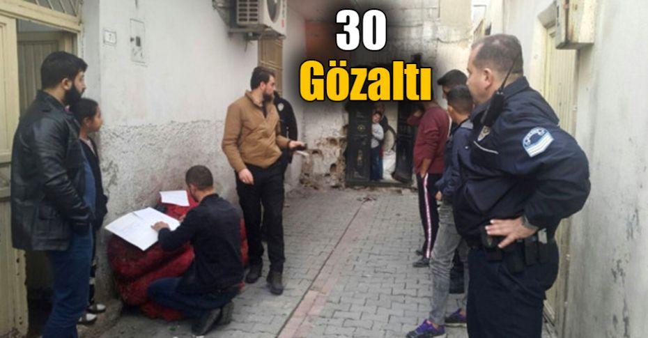 Şanlıurfa'da 205 polis eş zamanlı operasyon düzenledi!