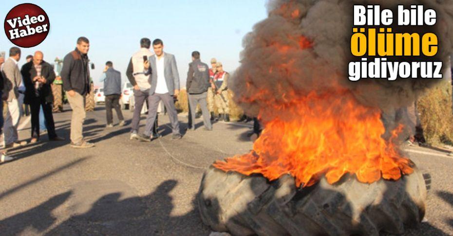 Şanlıurfa'da 3 Kişinin öldüğü yolda eylem yaptılar!