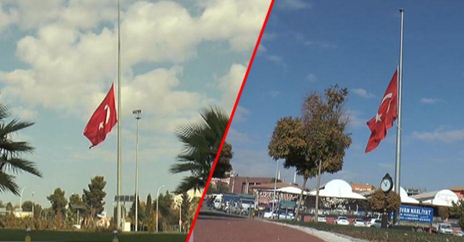 Şanlıurfa'da bayraklar yarıya indirildi
