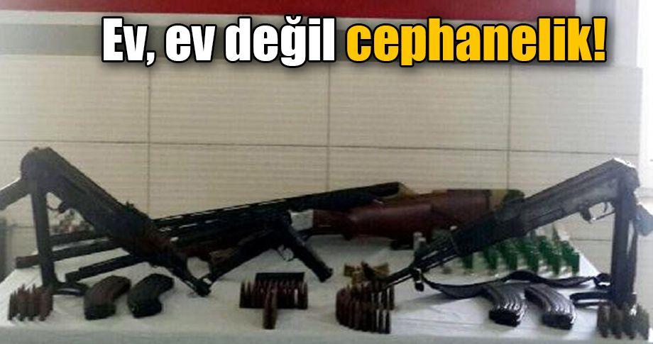Şanlıurfa'da bir evde 6 silah bulundu