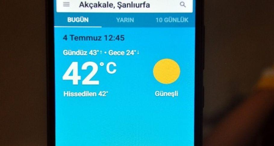 Şanlıurfa'da Çöl sıcakları kendini hissettirmeye başladı