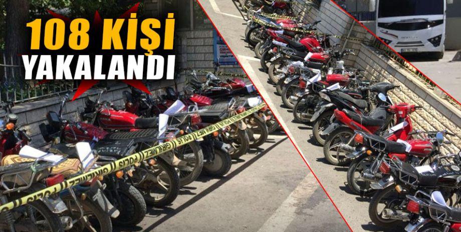 Şanlıurfa'da dev çalıntı motosiklet operasyonu!